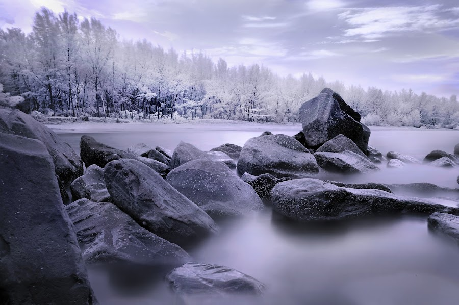 by Mohamad Sa'at Haji Mokim - Landscapes Weather ( water, pwcotherworldly, stone, beach, close )