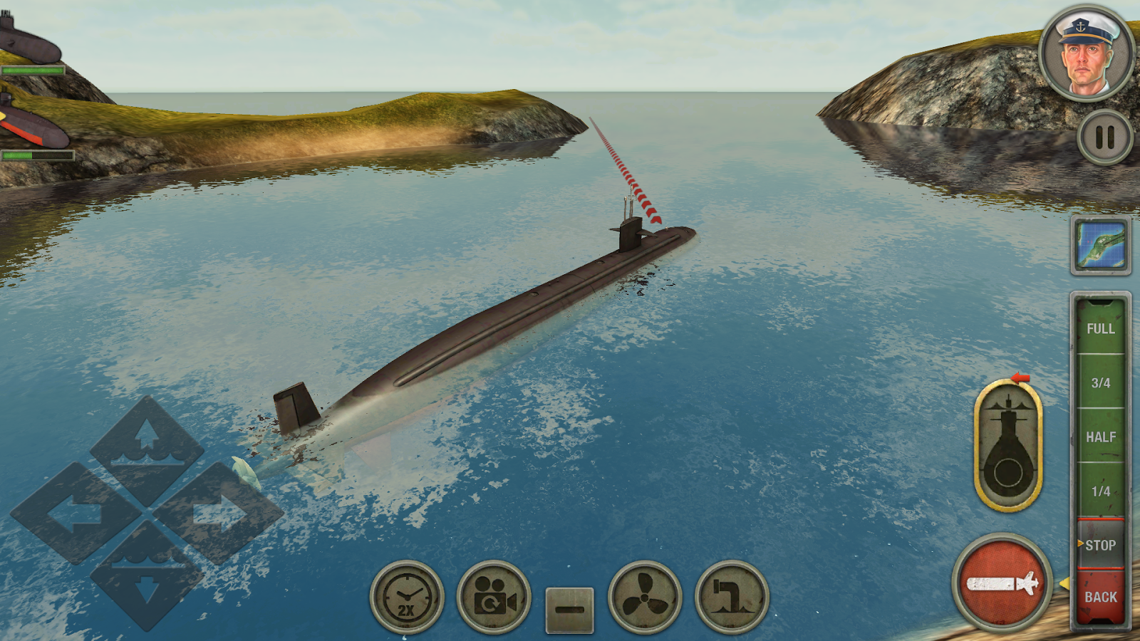 Enemy Waters : Submarine and Warship battles- screenshot