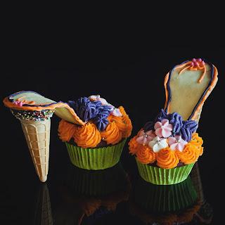Karl Lagerfeld Shoe Cupcakes
