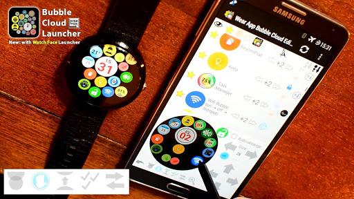 Bubble Cloud Wear Launcher Watchface (Wear OS) 9.39 screenshots 13