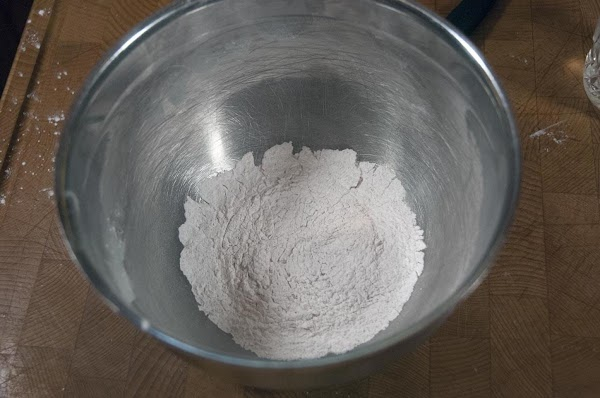 Add the arrowroot to a bowl, and mix in a bit of salt and...
