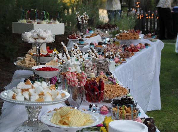 Dessert table at the wedding. I know. Willy Wonka eat your heart out. All...