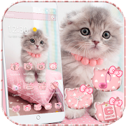 Free Download Pink Cute Kitty Cat Theme APK for Samsung