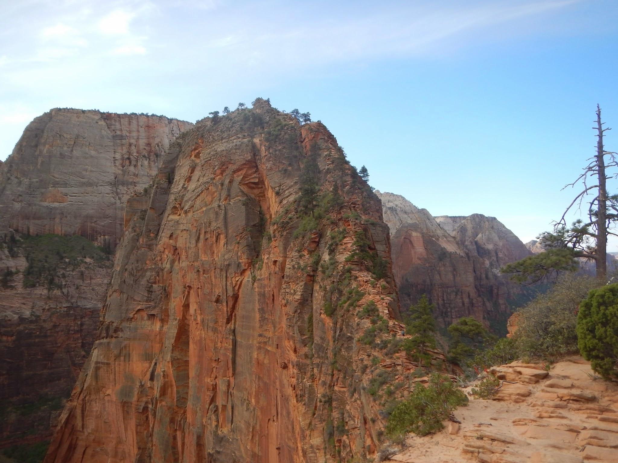 Photo: Look ahead at the narrow rib leading to Angel's Landing