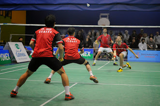 Photo: Adrian Liu  / Derrick Ng defeated Philippe Gaumond / Maxime Marin 21-14 21-9
