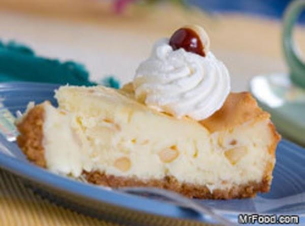 White Chocolate Macadamia Nut Cheesecake Recipe | Just A Pinch