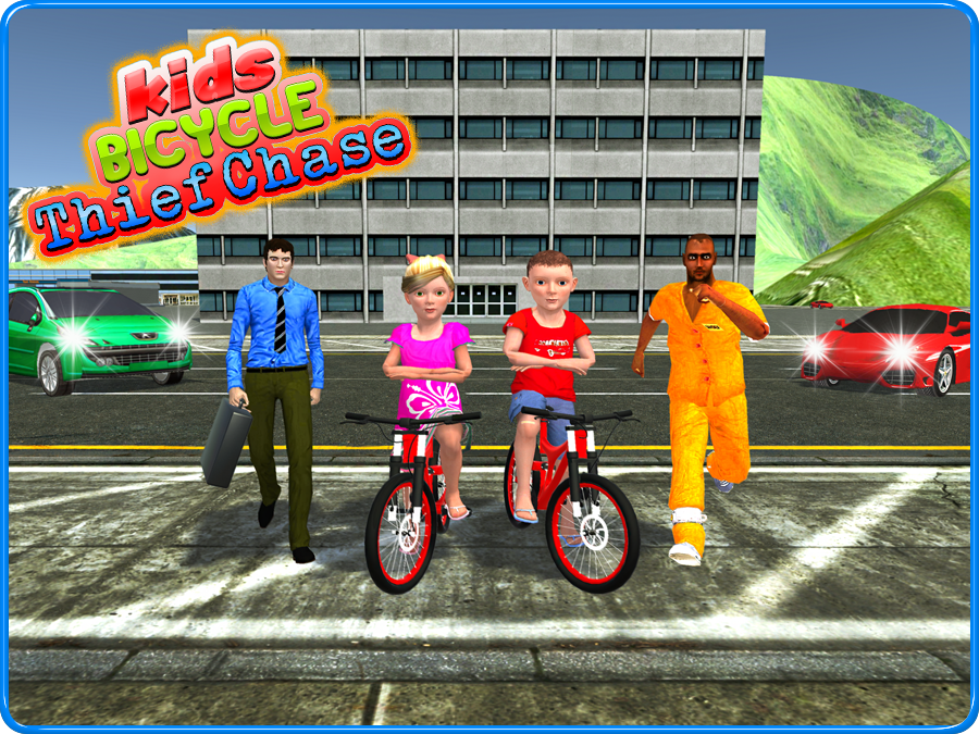 Kids Bicycle Rider Thief Chase- screenshot