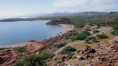 Photo: Overland view of south Baja coves & mountains