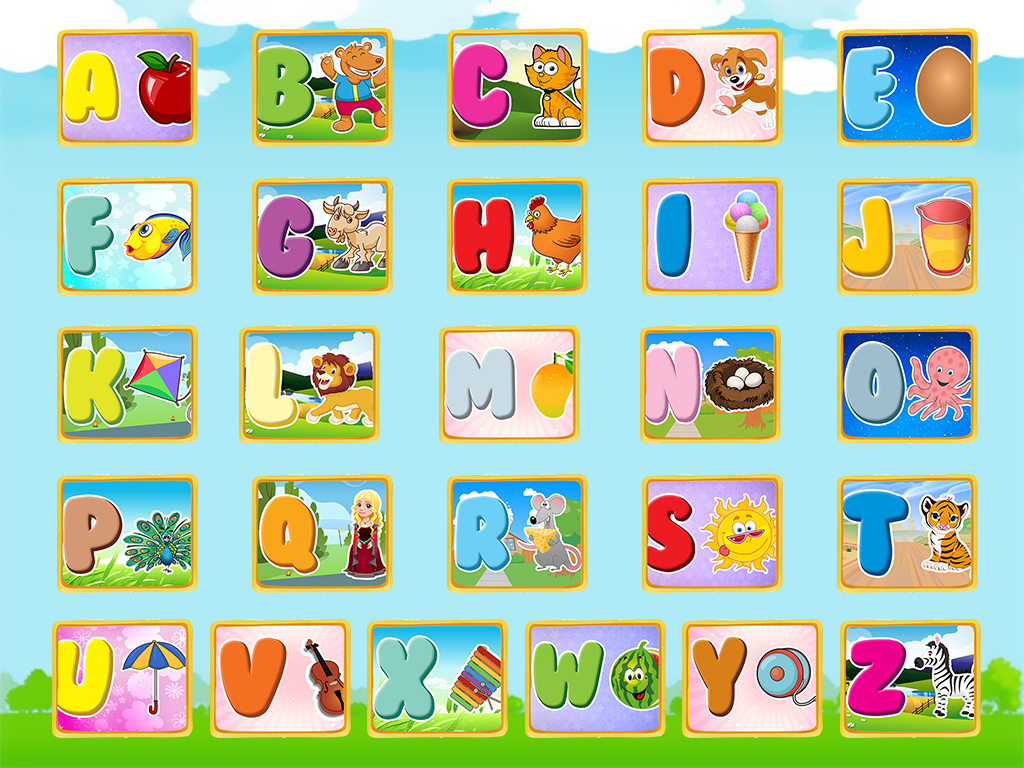 Preschool ABC Alphabet Jigsaw Puzzle- screenshot
