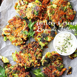 Garlicky and Cheesy Broccoli Fritters.