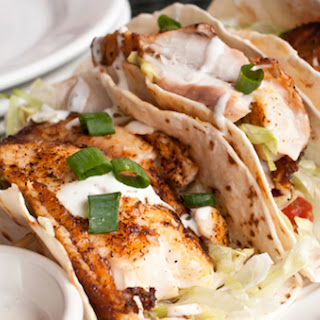 Fish Tacos w/ Cilantro Slaw