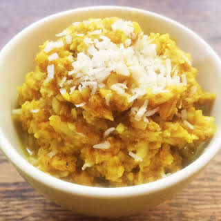 "Coconut Cauliflower Indian ""Rice"" Pudding."