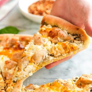 Five Cheese Garlic Chicken and Pesto Pizza