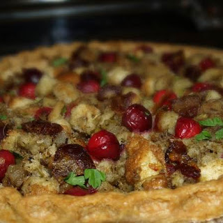 Turkey Leftover Pie With Cranberry-date Stuffing.