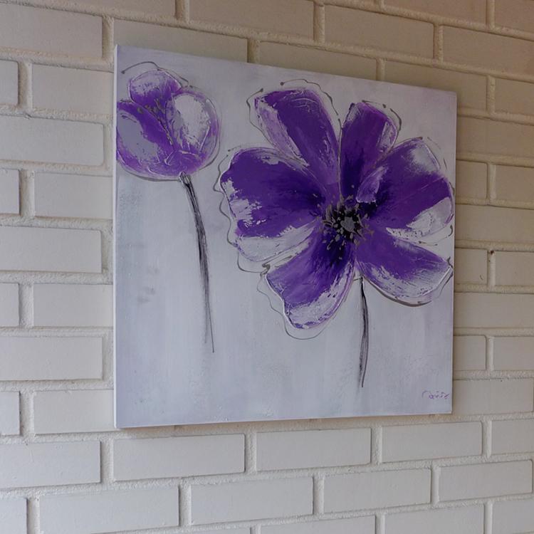 Contemporary Mix Media _F_purple_60 x 60 by K RULES ENTERPRISE