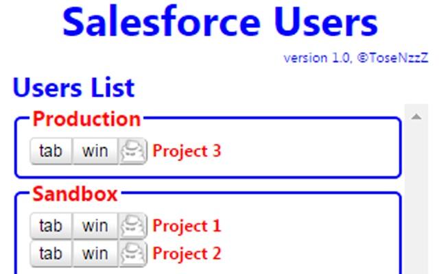 Salesforce Quick Login