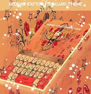 Redraw Tattoo Keyboard Theme - náhled