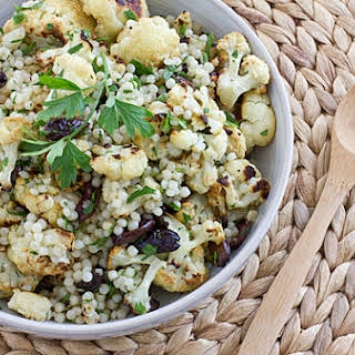 Warm Cauliflower & Israeli Couscous Salad.