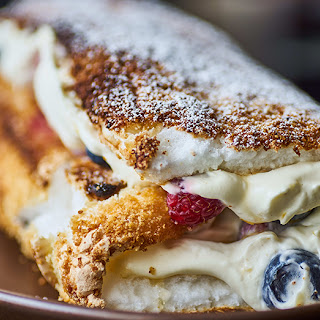 Berry And Mascarpone-Filled Roulade.