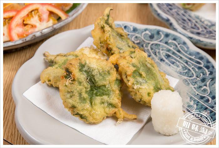 大手町日本料理無菜單料理甜蝦大葉揚