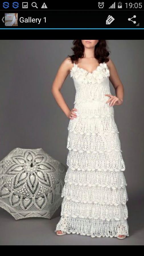 Crochet pattern wedding dress android apps on google play crochet pattern wedding dress screenshot junglespirit Images