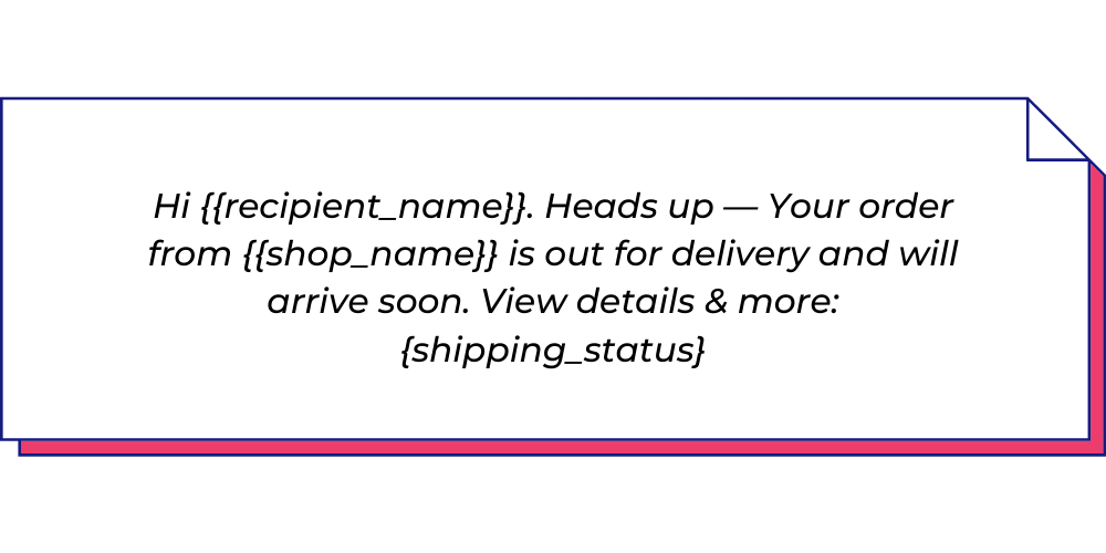 Use this shipping WhatsApp template for general shipping information.