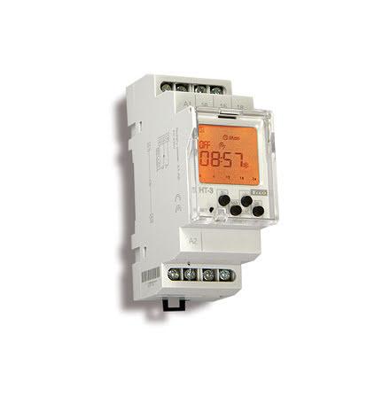 Års-/veckour digitalt, 12-240VAC/DC, 1 kanal, 2 moduler