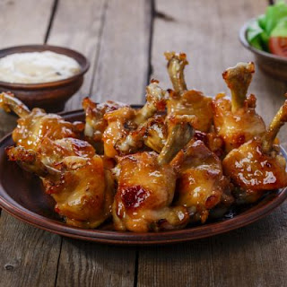 Cherry Honey Glazed Chicken Wings