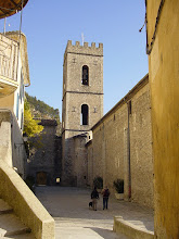 """Photo: The bell tower, described as """"a crenelated structure of fortified appearance."""""""