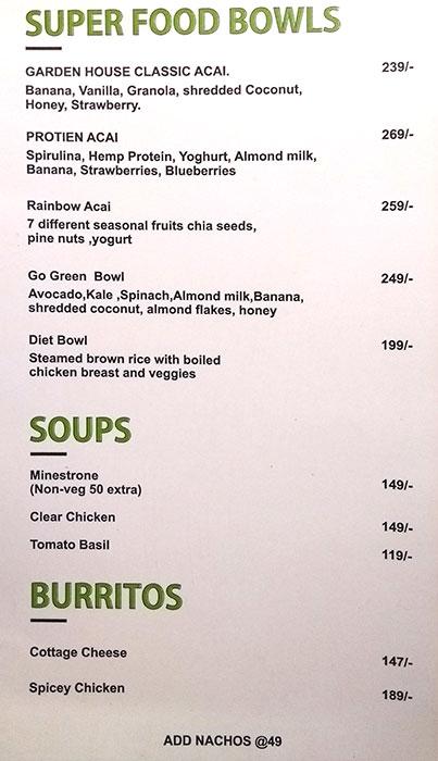 Garden House Cafe & Health Kitchen menu 6