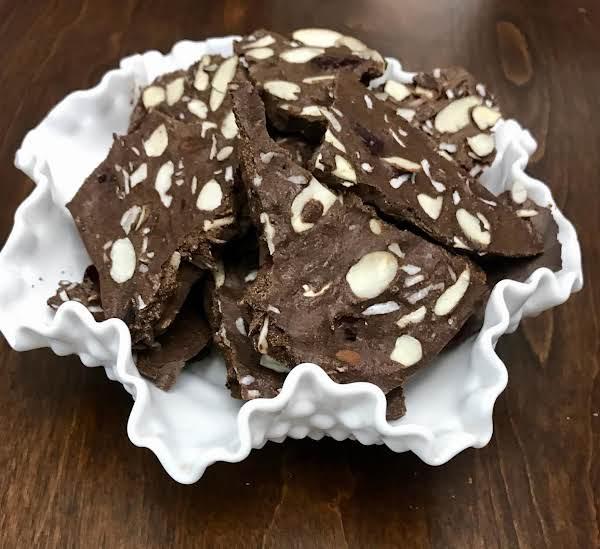 Chocolate Coconut Almond Cranberry  Bark