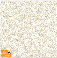 Pebbles Midnight Haunting Specialty Vellum Sheet 12X12 - Gold Foil UTGÅENDE