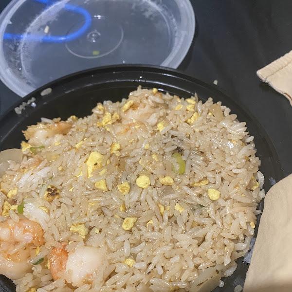 Gluten free shirmp fried rice