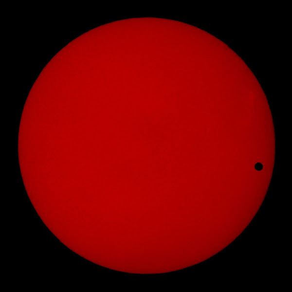 Photo: The transit of Venus as seen from the roof of the Brown University Physics building. June 2004