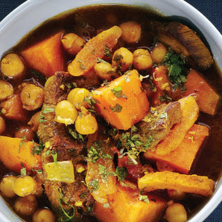 Moroccan Beef, Chickpea & Sweet Potato Stew.