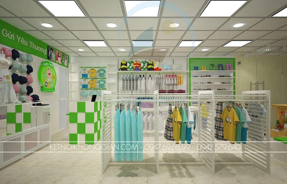 thiết kế shop thời trang trẻ em khác biệt