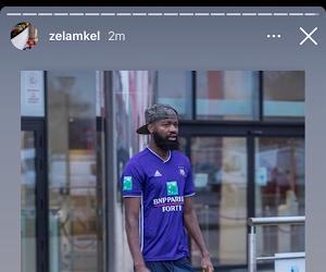 Les Ultras de l'Antwerp viennent s'expliquer avec Didier Lamkel Zé à l'entraînement