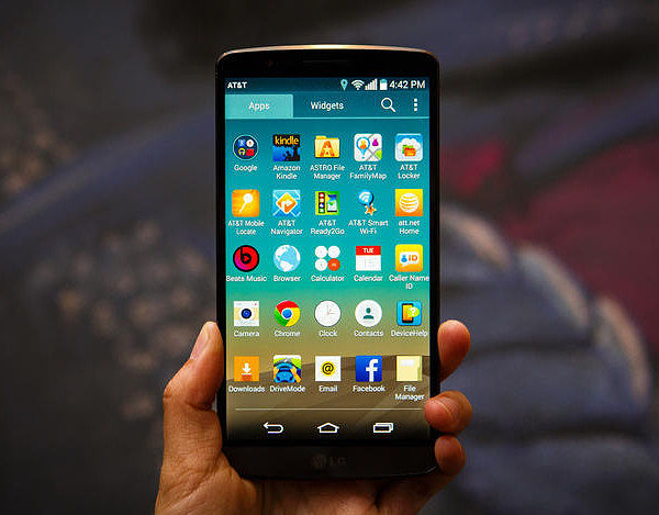 the LG G3's quad HD display