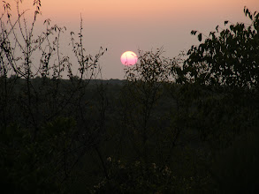 Photo: And the sun sets on another lovely Provence early Fall day.