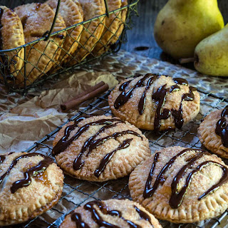 Pear Hand Pies with Dark Chocolate Drizzle