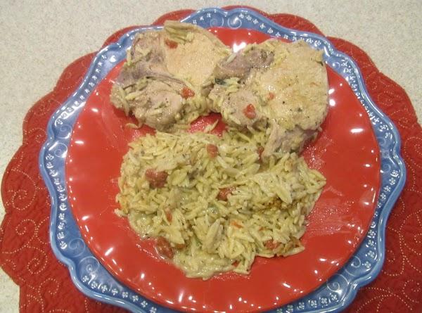 Jamie's Pork Chops With Orzo Recipe