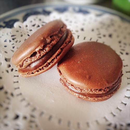 chocolate, chocolate ganache, cookie, dessert, Macaron, macaroon, recipe, 蛋白杏仁餅, 馬卡龍