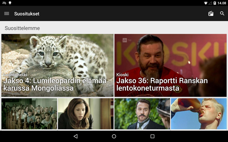 YLE Areena - screenshot