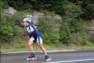 Photo: Elle aussi a des roues pluies à juste titre car il a plu presque toute la course et la route était détrempée.