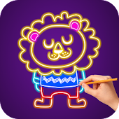 Glow Draw - Kids Coloring Book