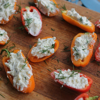 Creamy Feta Stuffed Peppers.