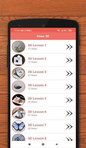 How to Draw 3D - 3D shapes drawing 8.0 screenshots 1