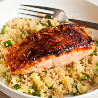 Hoisin Salmon with Quinoa & Zucchini.
