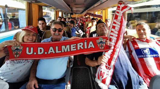 Los seguidores del Almería se apuntan a un nuevo viaje.