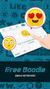 Free Doodle Theme&Emoji Keyboard - náhled